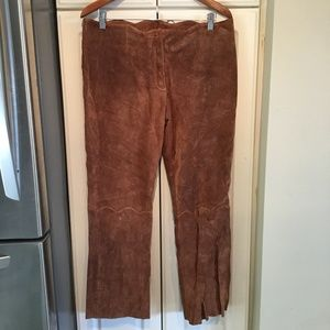 Wilsons Leather Maxima Brown Suede Pants Size 12